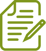 Green Pen and Paper Icon