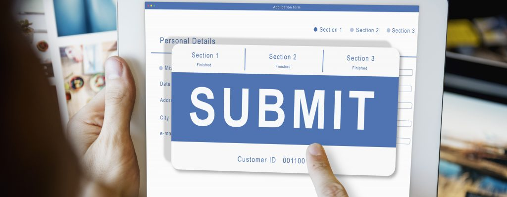 Submit Application Membership Register Send Concept